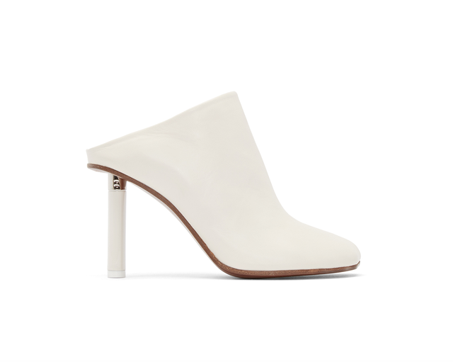 Vetements Ivory Leather Mules