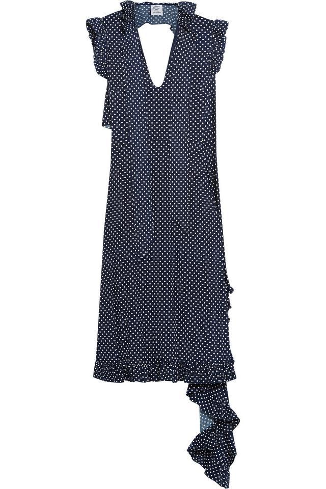 Vetements Polka-Dot Stretch-Jersey Dress
