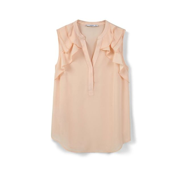 Mango Ruffled Top