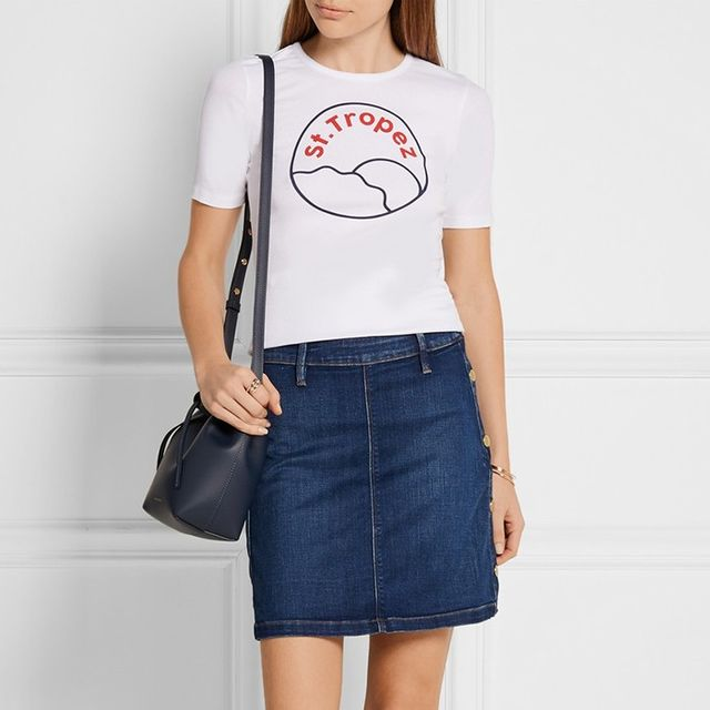 Frame Denim Antibes Mini Skirt
