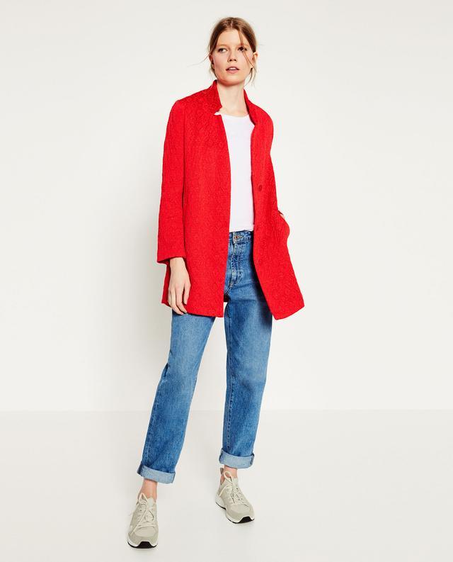 Zara Jacquard Coat