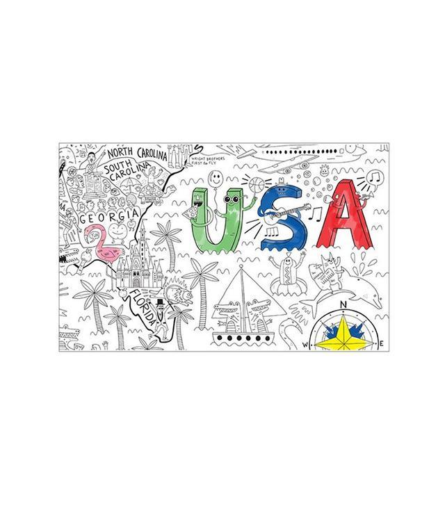 Pirasta Let's Color America Coloring Poster