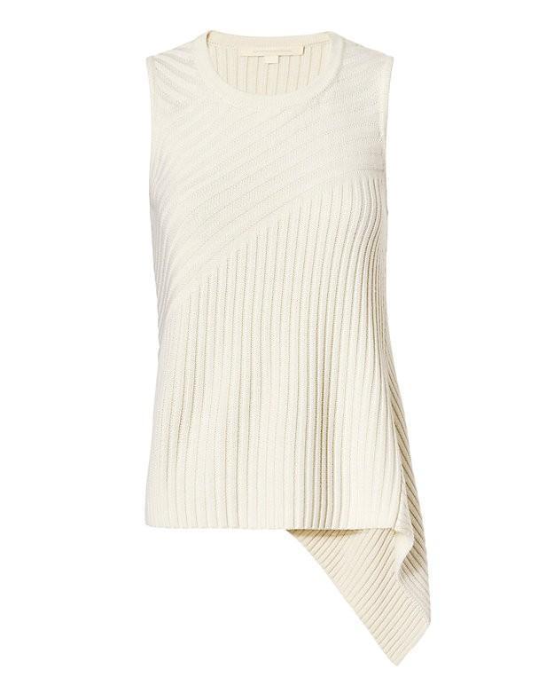 Jonathan Simkhai Angle Sleeveless Rib Knit Top