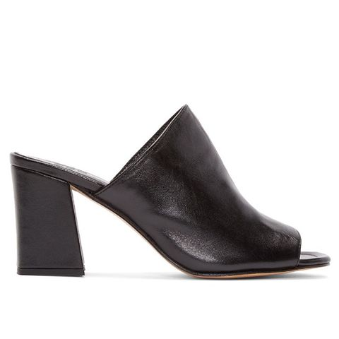 Black Leather Penelope Mules