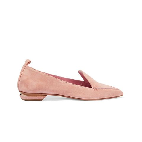 Beya Suede Point-Toe Flats