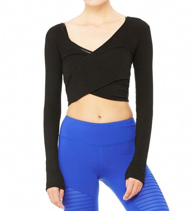 Alo Yoga Amelia Long Sleeve Crop Top