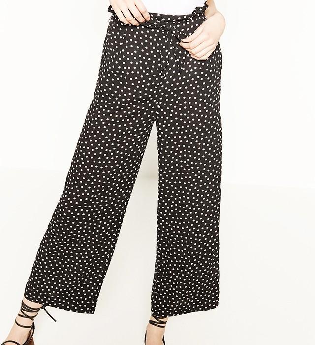 Zara Flowing Polka Dot Trousers