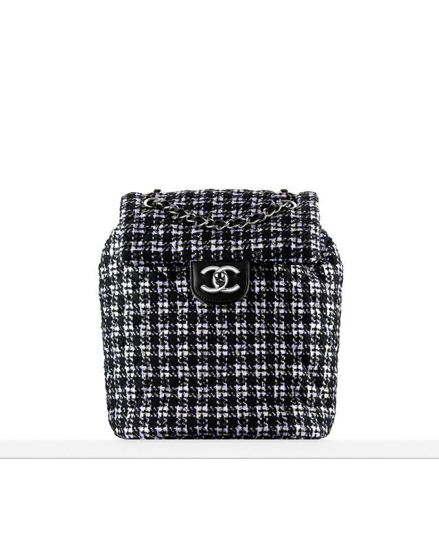 Chanel Tweed & Lambskin Backpack
