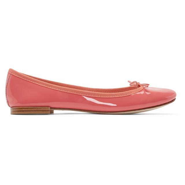 Repetto Pink Patent Leather Cendrillon Ballerina Flats