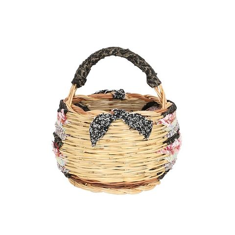 Small Campagna Hand-Woven Straw Basket