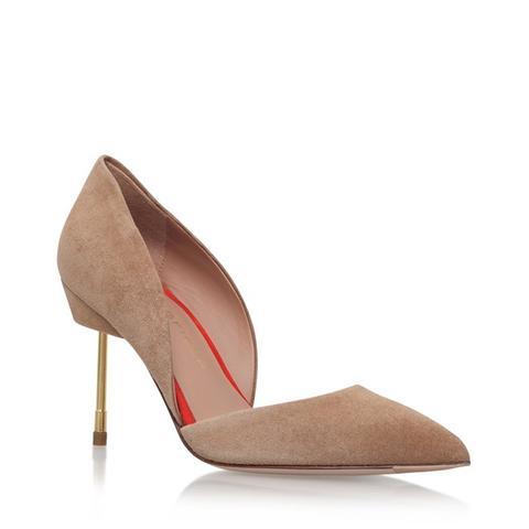 Beaumont Tan Mid Heel Court Shoes