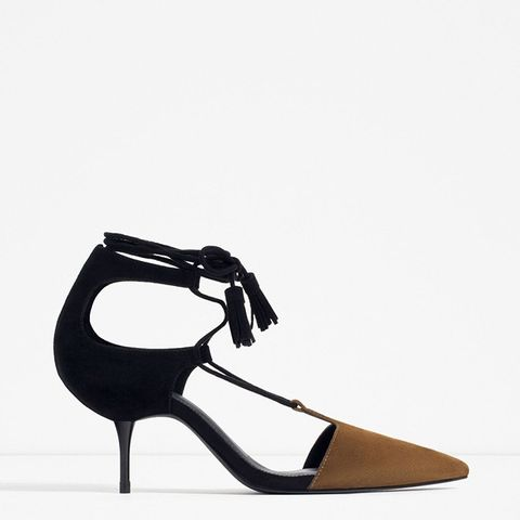 Mid-Heel Lace-Up Shoes