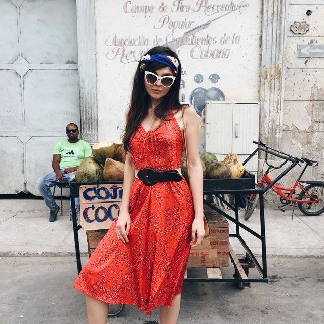 Cuban style dress for women
