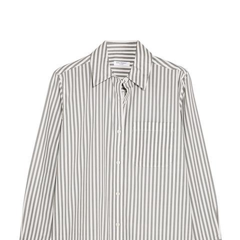 Daddy Striped Cotton-Poplin Shirt
