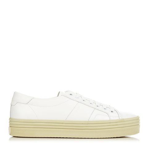 Low-Top Leather Flatform Trainers