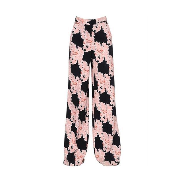 MSGM Floral Printed Cady Pants
