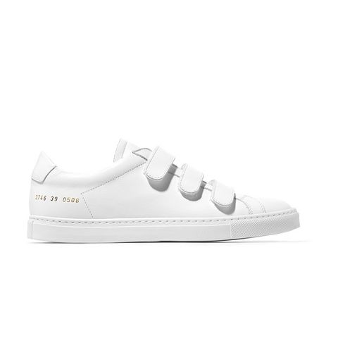 Achilles Three Strap Leather Sneakers