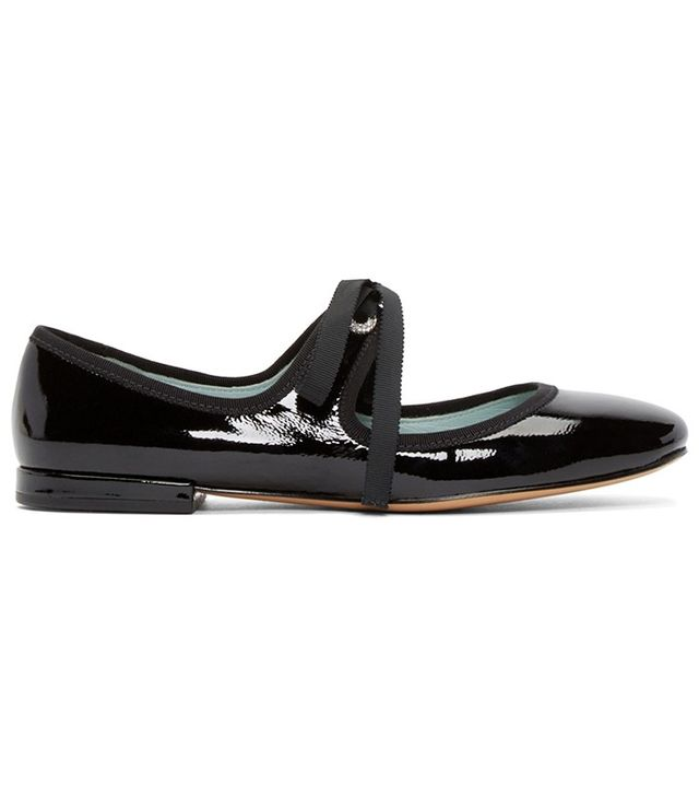 Marc Jacobs Black Lisa Mary Jane Ballerina Flats