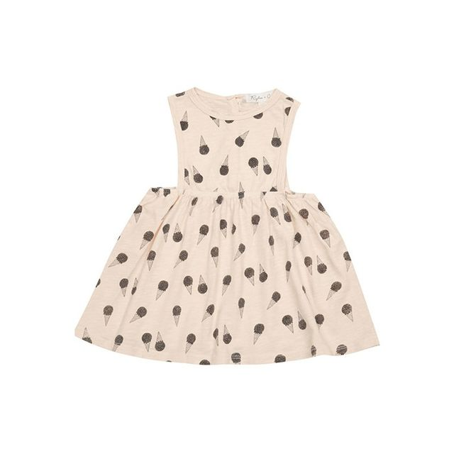 Rylee + Cru Ice-Cream-Cone-Print Dress