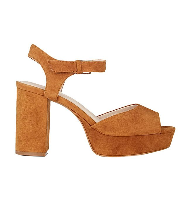 Barneys New York Peggy Suede Platform Sandals