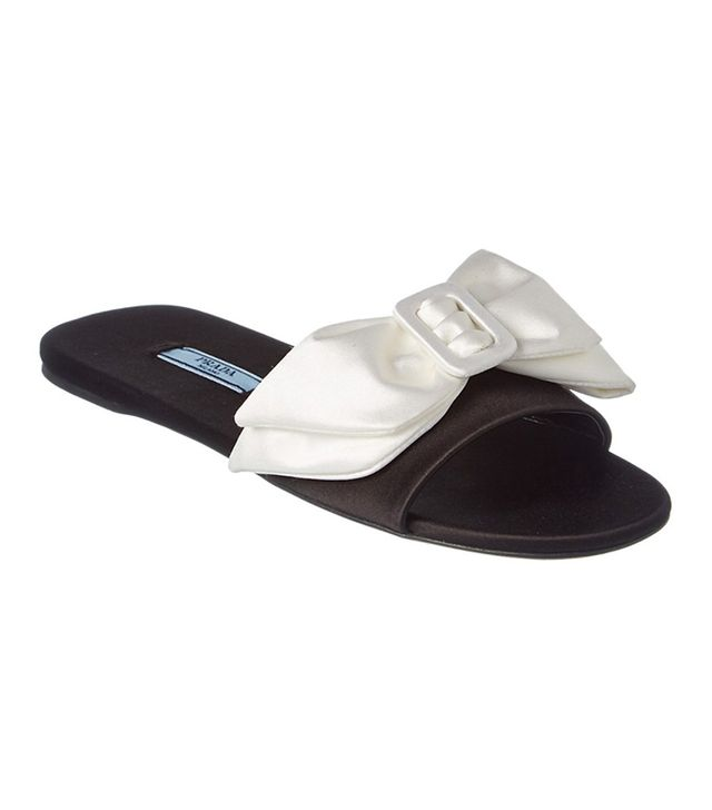 Prada Satin Bow Slides