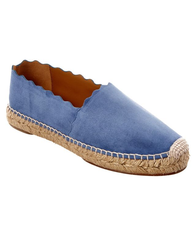 Chloé Scalloped Suede Espadrille Flat