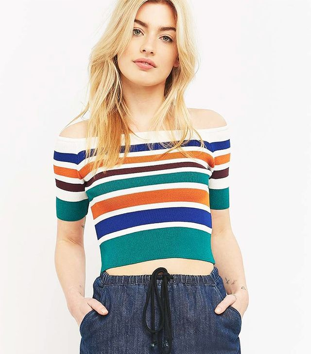 Cooperative by Urban Oufitters Striped Off-The-Shoulder Top