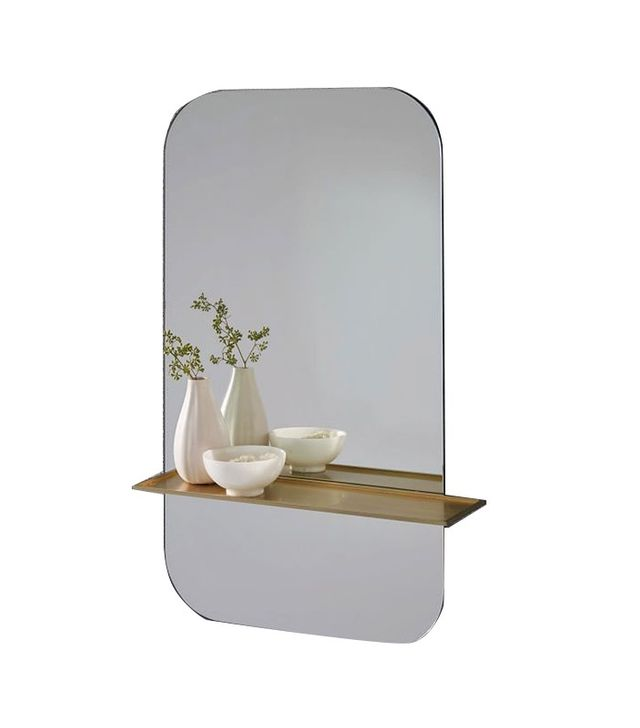 West Elm Floating Shelf Wall Mirror