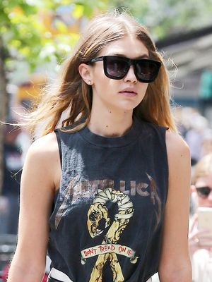 Gigi Hadid Just Dressed Up Her Band Tee in the Coolest Way