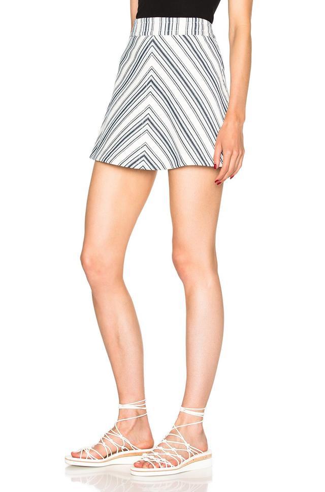 See by Chloé Striped Mini Skirt