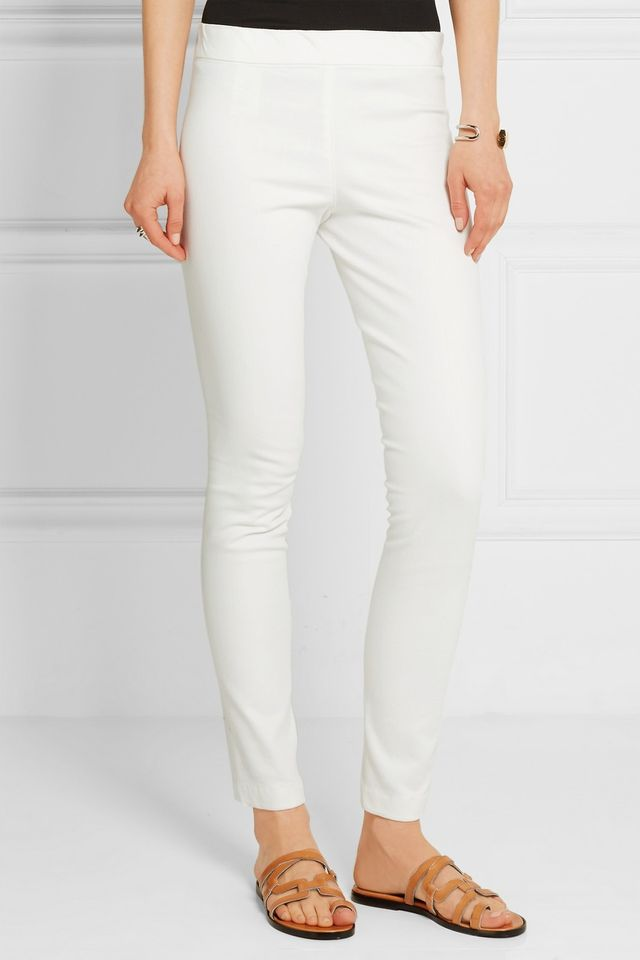 The Row Stratton Stretch Cotton-Blend Leggings
