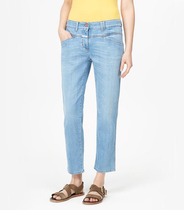 Closed Pedal Position Indigo Denim Jeans