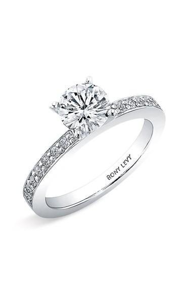 Bony Levy Channel Set Diamond Engagement Ring