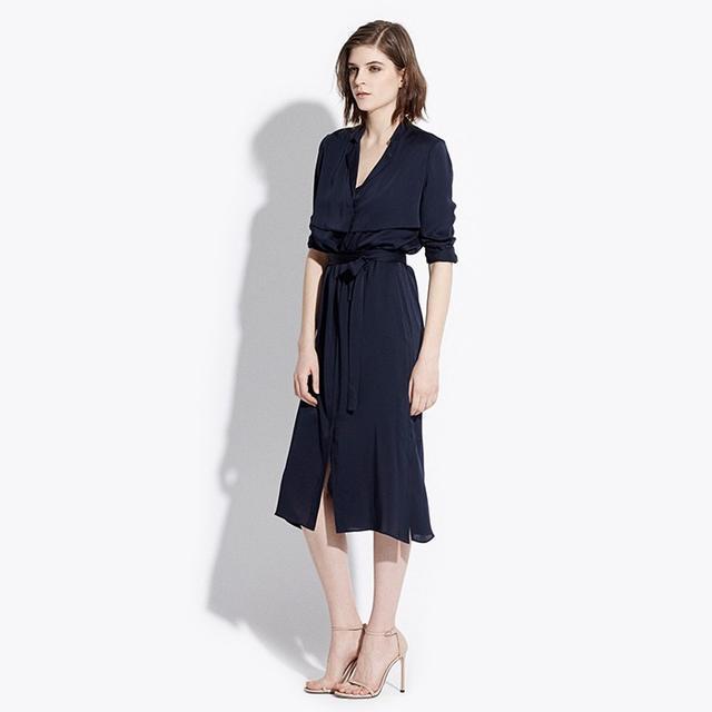 AYR Silk Trench Dress