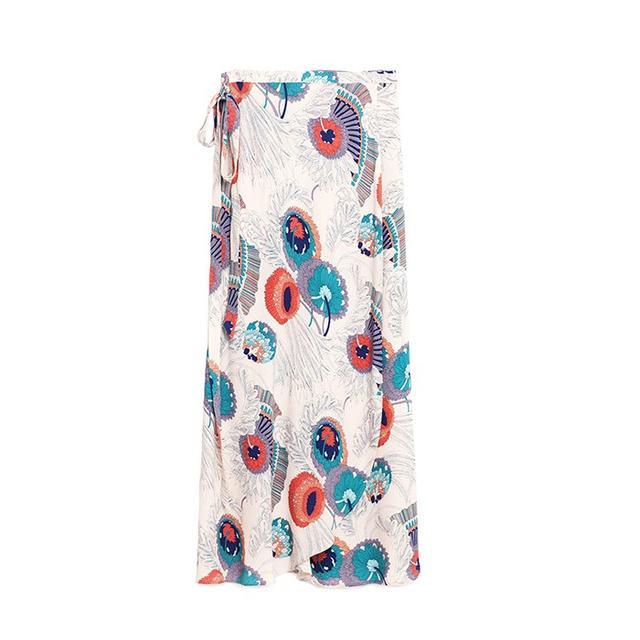 Zara Wrap Printed Skirt