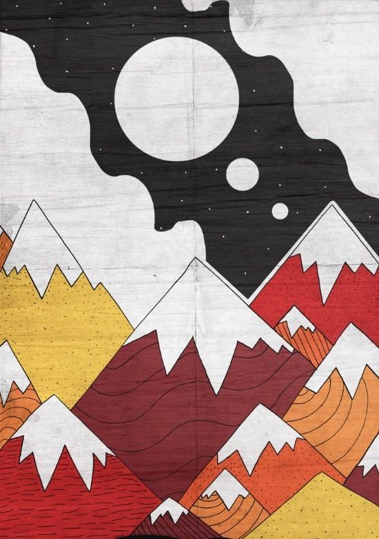 Society 6 Three Moons Mounts Print by Steve Wade