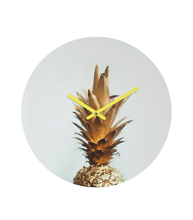 Chelsea Victoria The Gold Pineapple Round Clock