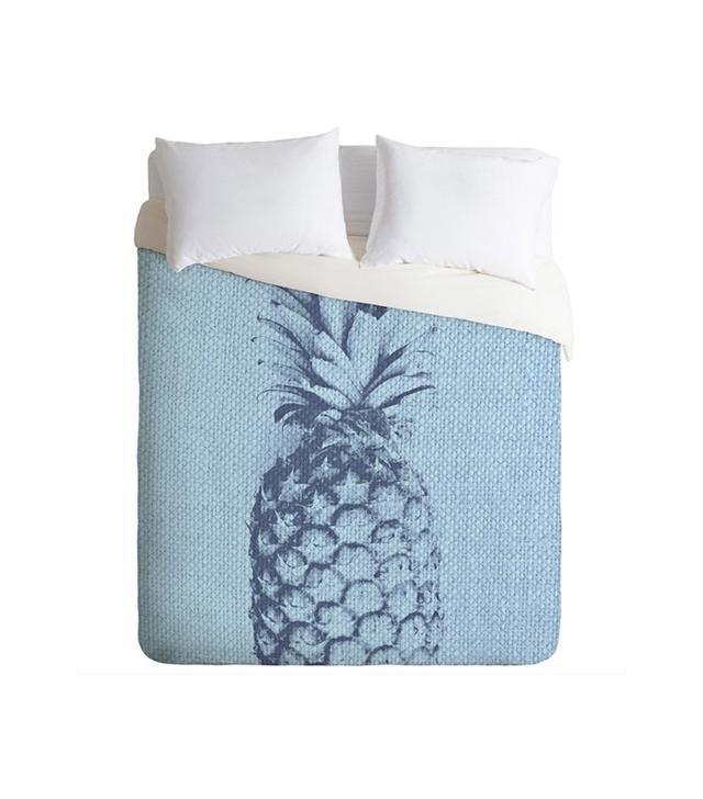 Deb Haugen Linen Pineapple Duvet Cover