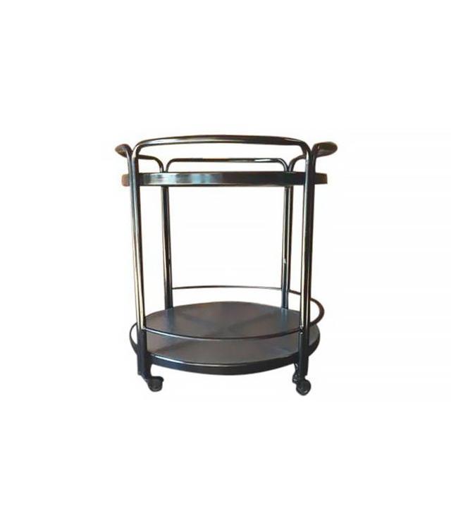 Chairish Rolling Outdoor Metal Glass Bar Cart