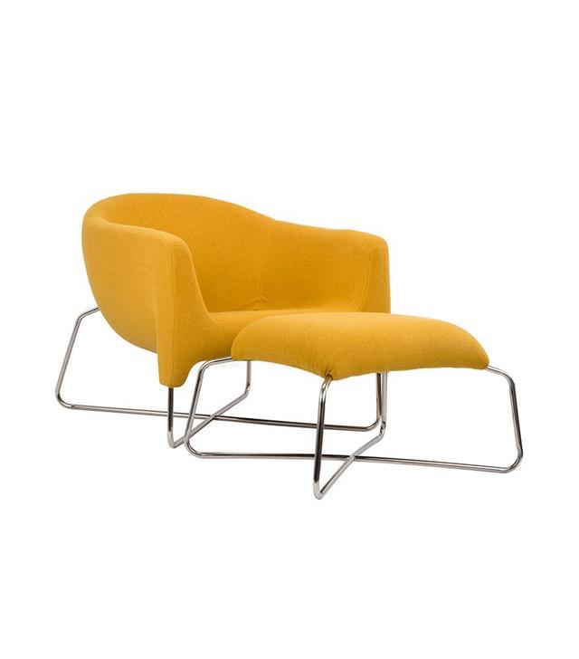 Dot & Bo Sergeant Mustard Chair and Ottoman