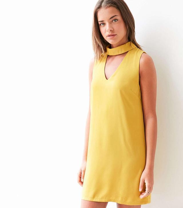 Glamorous Cutout Mock-Neck Shift Dress