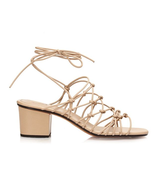 Chloé Multi-Strap Block-Heel Leather Sandals