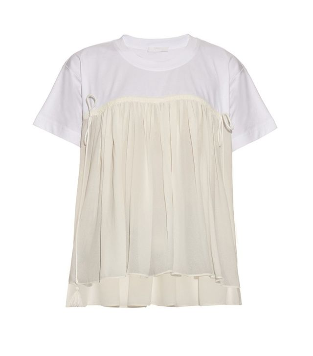 Chloé Ruffled Jersey Top