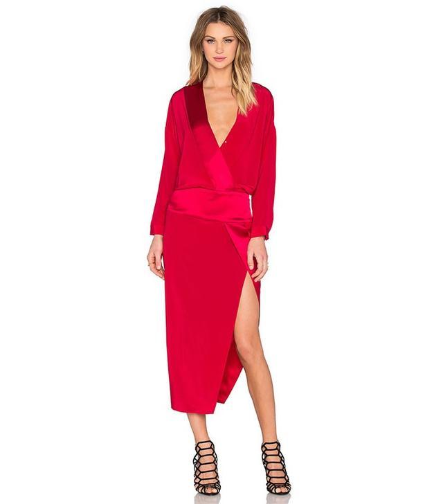 Mason by Michelle Mason Long Sleeve Wrap Dress