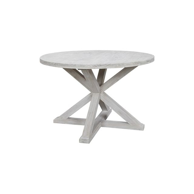 Freedom Cancun Dining Table Diameter 120cm in White Wash