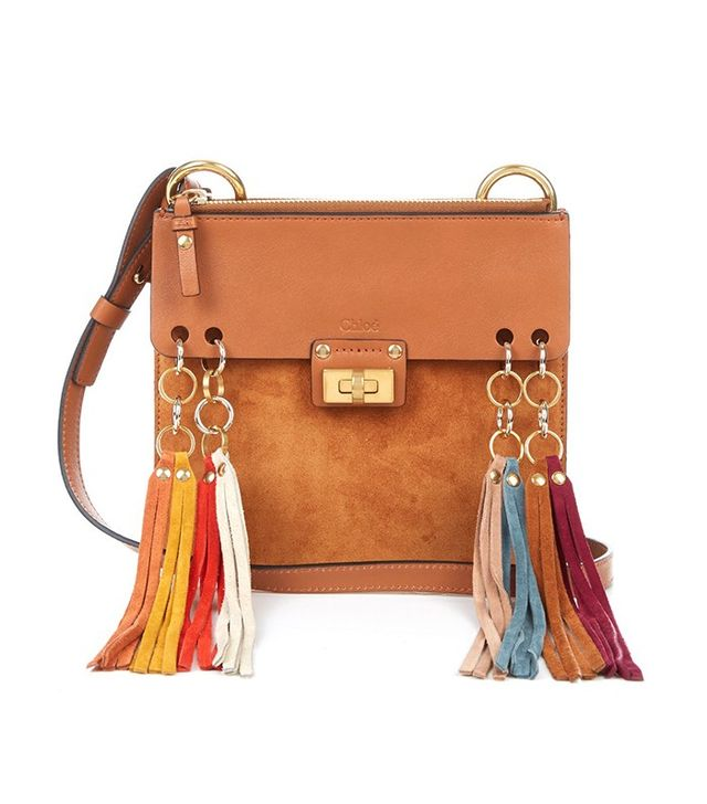 Chloé Jane Suede and Leather Fringed Cross-Body Bag