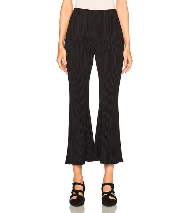 Proenza Schouler Micro Pleat Flare Knit Pants