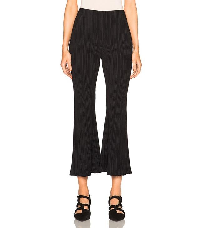 Proenza Schouler Micro Pleat Flare Knit Pants
