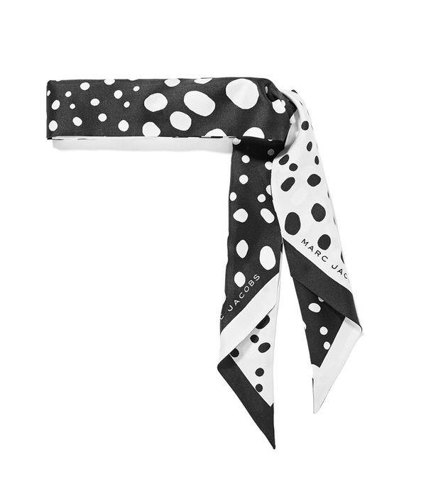 How to Wear a Scarf: Marc Jacobs Polka-Dot Silk-Satin Twill Scarf