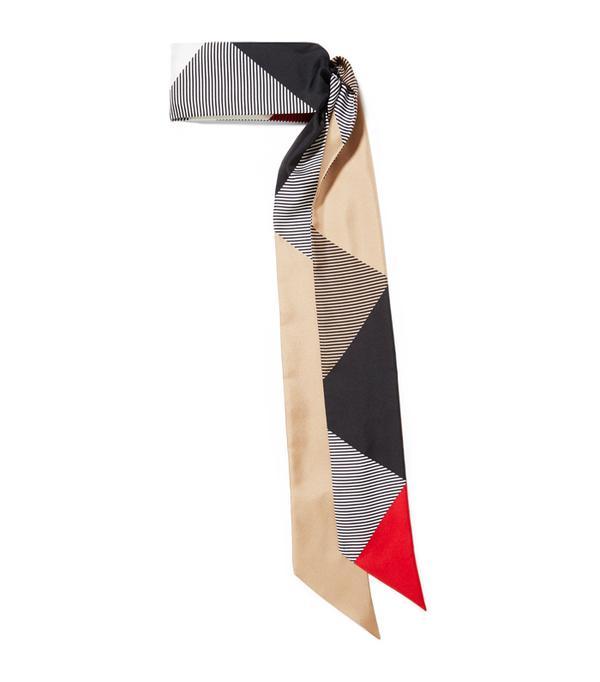 How to Wear a Scarf: Burberry Printed Silk-Twill Scarf
